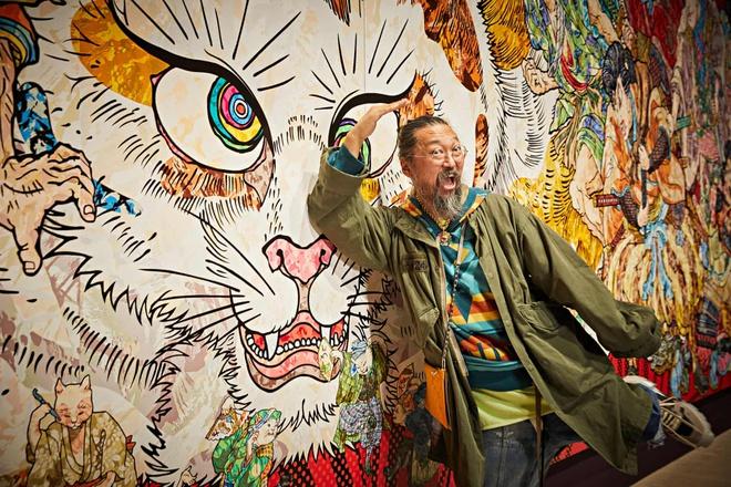Họa sĩ Nhật Bản vẽ thế giới siêu nhiên trong một con mèo