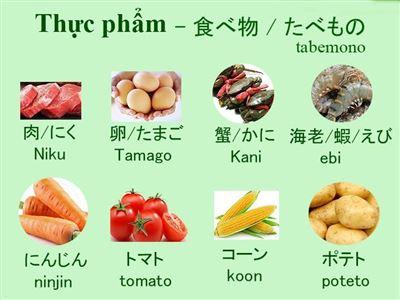 Từ vựng tiếng Nhật chủ đề Ẩm thực, ăn uống